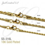 Gold Plated Rope Chains (3)