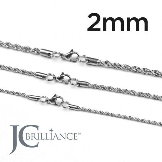Stainless Steel 316L Rope Chains 2mm Thick