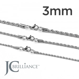 Stainless Steel 316L Rope Chains 3mm Thick