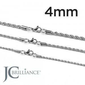 Stainless Steel 316L Rope Chains 4mm Thick